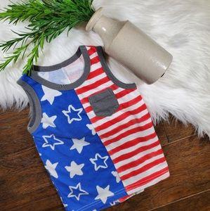 Cat & Jack Stars Stripes Tank Top | sz 2T | red